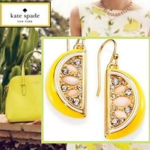 New! 🍋Kate Spade Lemon Tart Earrings!🍋
